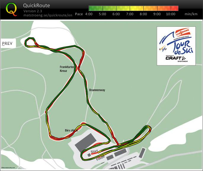 Oberhof course preview (25/12/2011)