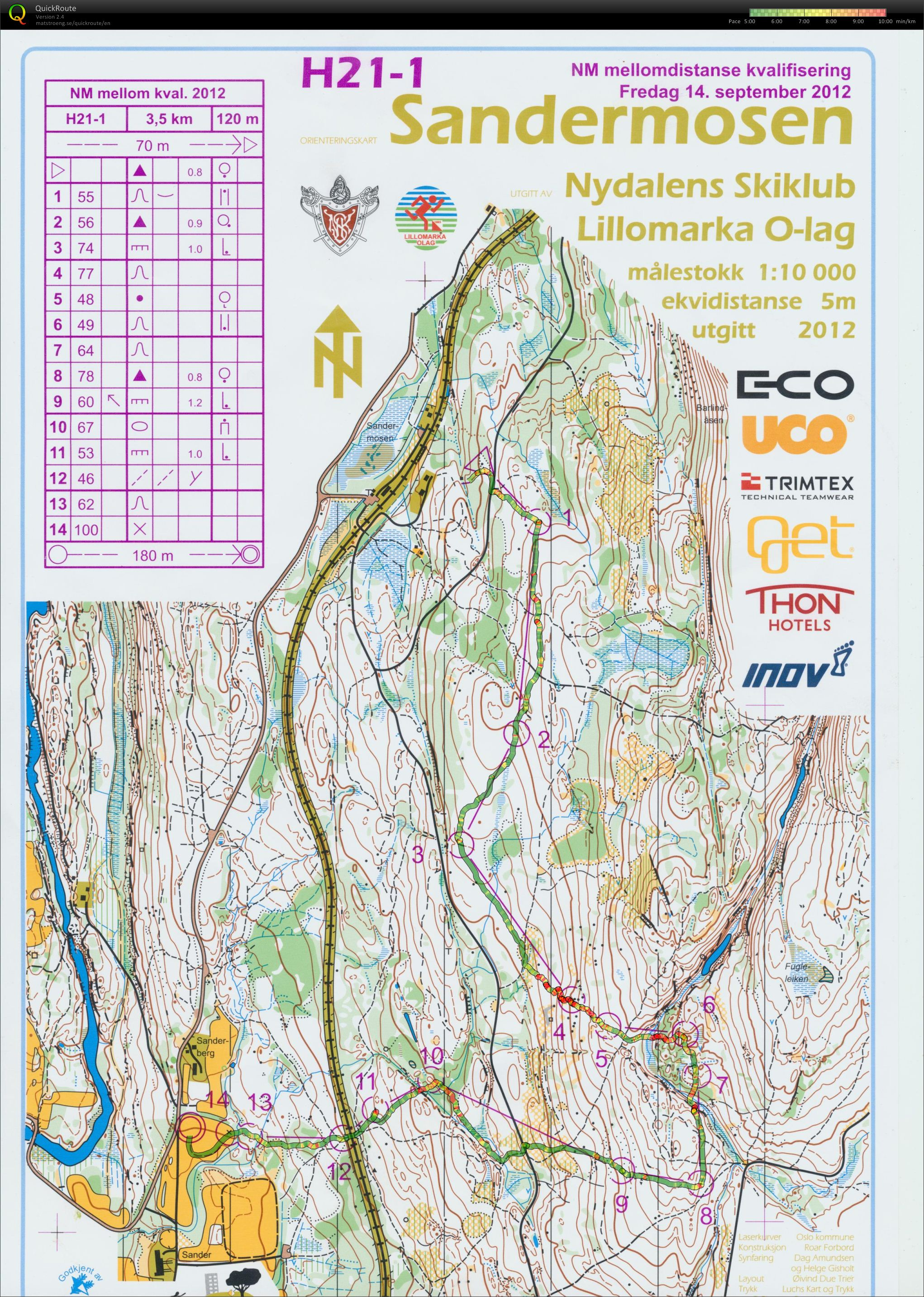 Norwegian Champs Middle Qual M21-1 (14/09/2012)