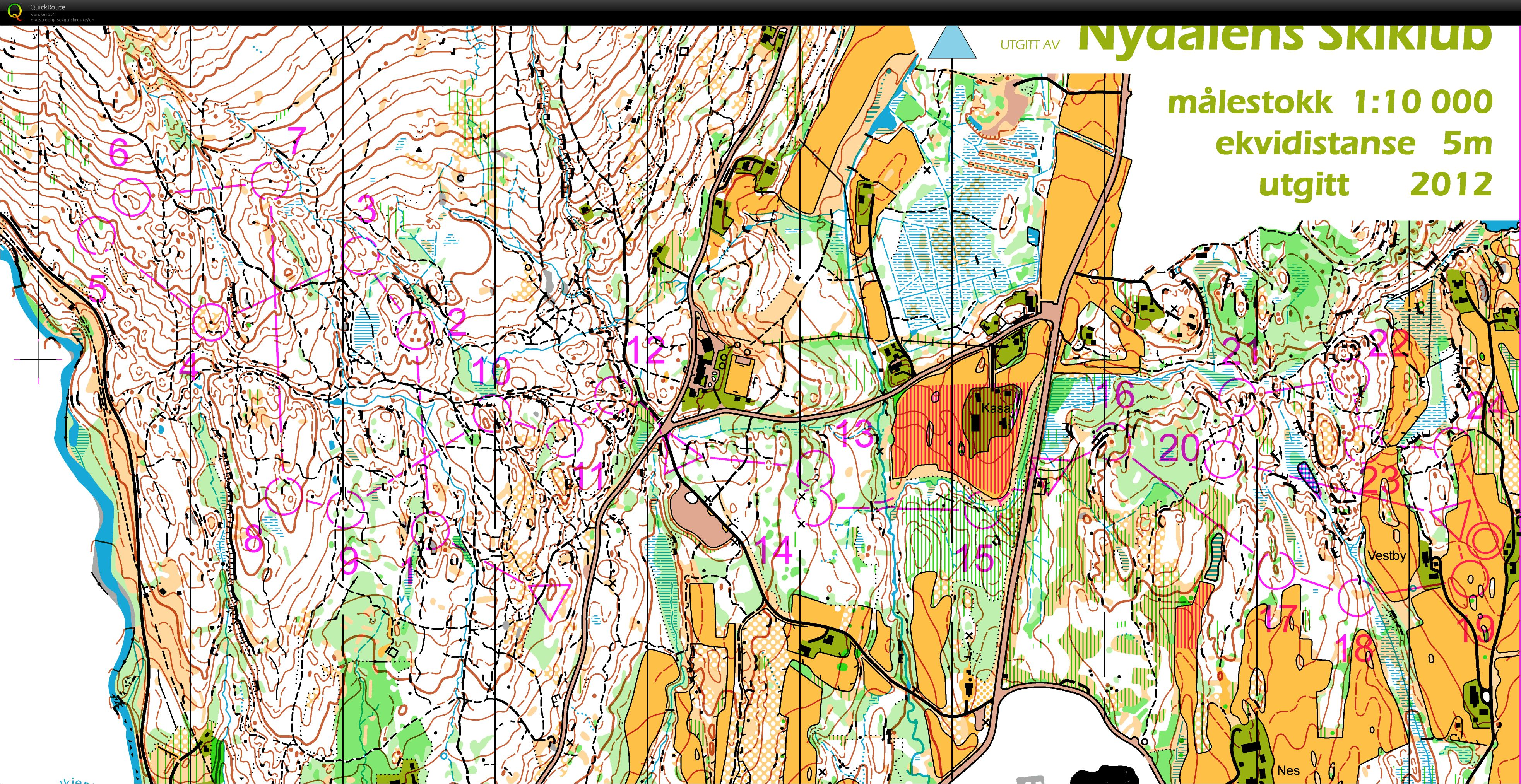 Norwegian Champs Middle M21 Final (first 9 controls) (15/09/2012)