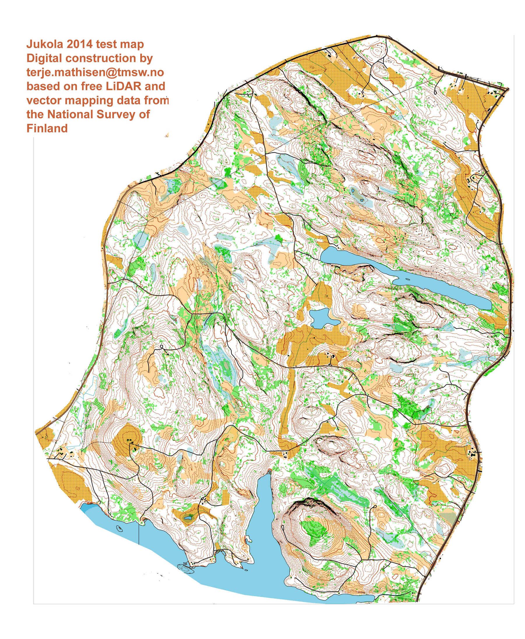 Jukola 2014 maps: Click to compare maps (03/01/2014)